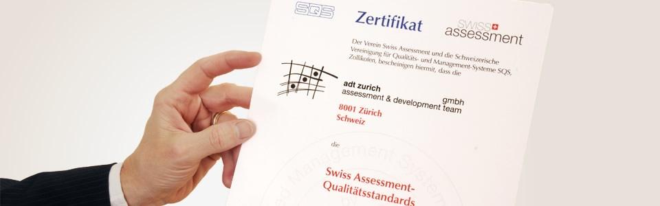 Zertifizierung | adt zurich